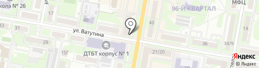 Шпиль на карте Дзержинска