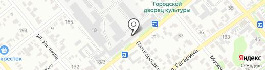 ГеАЗ на карте Георгиевска