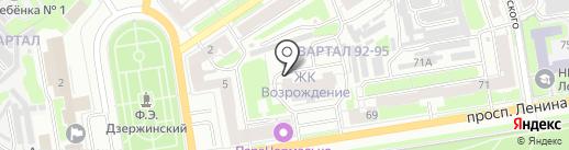 Возрождение на карте Дзержинска