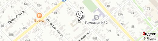 Трест жилищного хозяйства-1 на карте Георгиевска