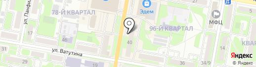 Букет на карте Дзержинска
