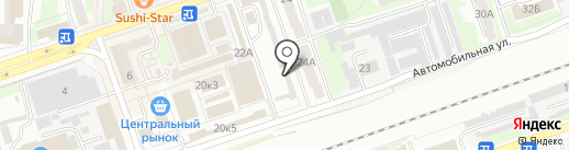 Славянка на карте Дзержинска