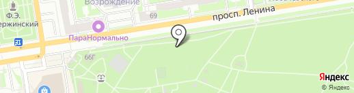 Деревня Ромашково на карте Дзержинска