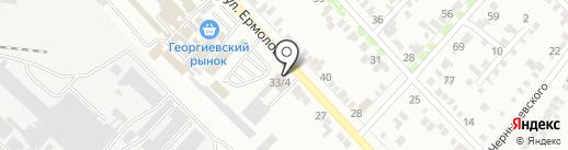 Москвич на карте Георгиевска