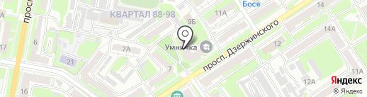 Умничка на карте Дзержинска
