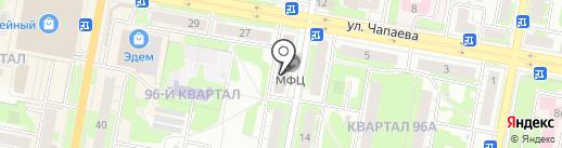 Многофункциональный центр предоставления государственных и муниципальных услуг городского округа город Дзержинск, МБУ на карте Дзержинска