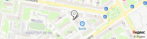 Бося на карте Дзержинска