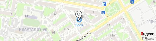 Домино на карте Дзержинска