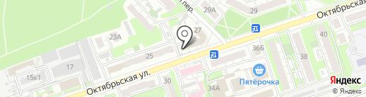 Хмельной мишка на карте Дзержинска