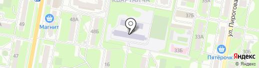 Средняя общеобразовательная школа №68 на карте Дзержинска