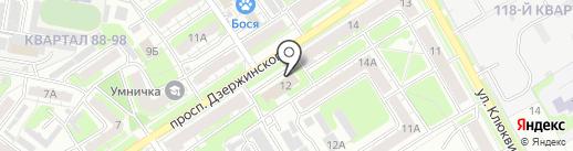 Управление ФСБ РФ по Нижегородской области на карте Дзержинска