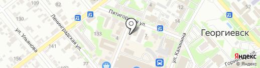 Сильвия на карте Георгиевска