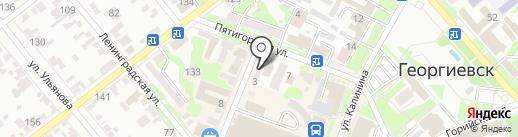 Семицветик на карте Георгиевска