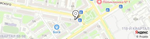 Магазин одежды и обуви на карте Дзержинска
