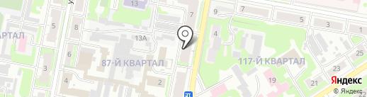 Общежитие на карте Дзержинска