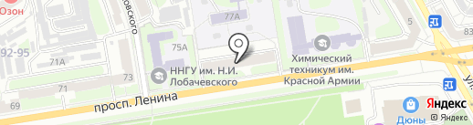 Нотариус Сафиулова Ф.Г. на карте Дзержинска