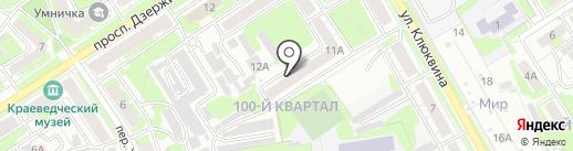 Оберег на карте Дзержинска