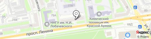 Приволжское управление государственного автодорожного надзора на карте Дзержинска