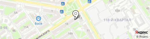 Прародомысл на карте Дзержинска
