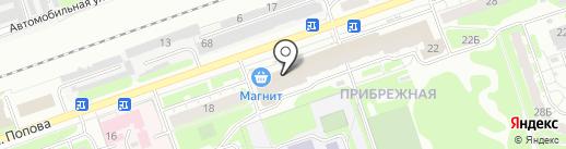 Речной на карте Дзержинска