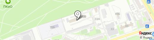 Гагара на карте Дзержинска