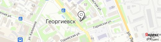 Школьник на карте Георгиевска