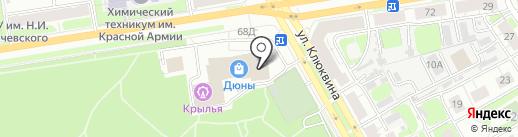Тенториум на карте Дзержинска