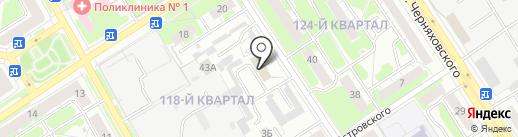 Геос на карте Дзержинска