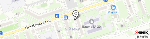 Магазин фруктов на карте Дзержинска