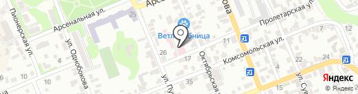 Георгиевская районная станция по борьбе с болезнями животных на карте Георгиевска