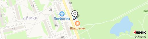 Магазин по продаже фруктов и овощей на карте Богородска
