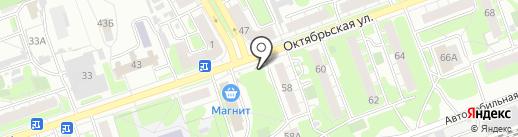 Магазин табачных изделий на карте Дзержинска