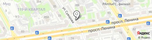 Магазин рыболовных принадлежностей на проспекте Ленина на карте Дзержинска