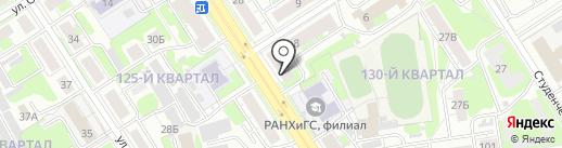 Полина на карте Дзержинска