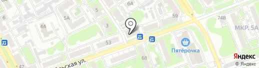 Старый город на карте Дзержинска