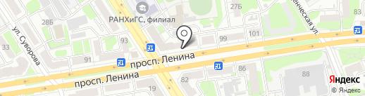 Теплострой на карте Дзержинска