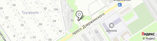 Пластик на карте Дзержинска