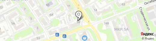 Промпэк на карте Дзержинска