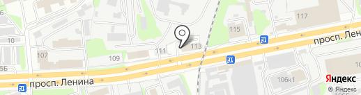 Автомойка на проспекте Ленина на карте Дзержинска
