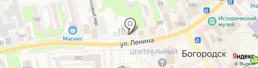 Магазин мясной продукции на карте Богородска