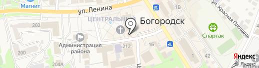 Радуга на карте Богородска