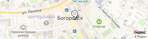 Магазин по продаже печатной продукции на карте Богородска