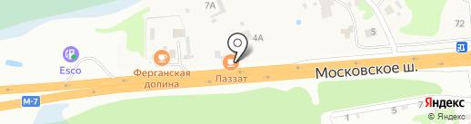 Лаззат на карте Северного