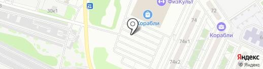Корабли на карте Нижнего Новгорода