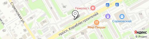 Магазин товаров для сада на карте Нижнего Новгорода