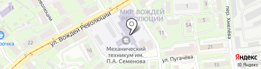 Автостарт на карте Нижнего Новгорода