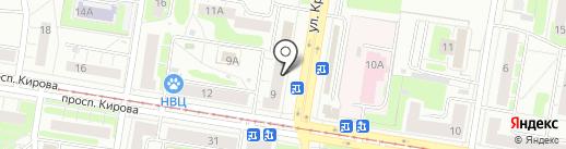 Твистер House на карте Нижнего Новгорода