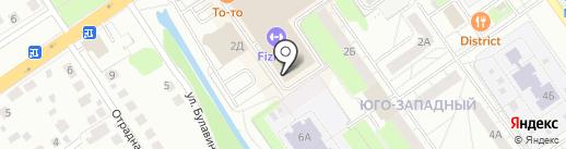 Ракета на карте Нижнего Новгорода