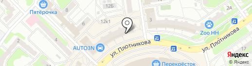 Ореховский на карте Нижнего Новгорода