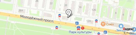 Магазин оптики на карте Нижнего Новгорода